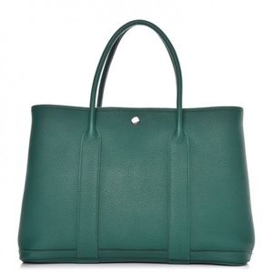 HERMES Negonda Malachite Garden Party Tote 36 MM